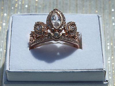 Rapunzel Tangled Ring Disney Princess Rose Gold Plated Tiara Queen Crown - Rapunzel Plates