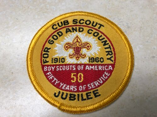 1960 Cub Scout Jubilee 50th Anniversary of Scouting Woven Patch