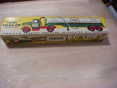 """1964 Hess """"B"""" Mack Tanker Trailer 'The First Hess Toy Truck w/box,& instructions"""