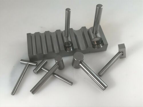 METAL SWAGE BLOCK U-CHANNEL FORMING DAPPING METAL BLOCK W/7 HAMMER PUNCHES