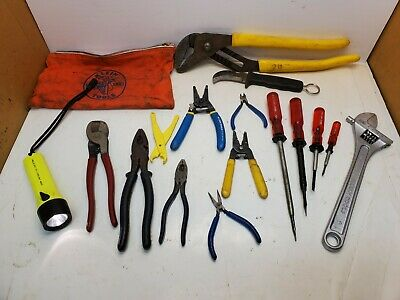 Lot Klein Tools Skinning Knife Cable Cutter Water Pump Pliers Linemans Pliers