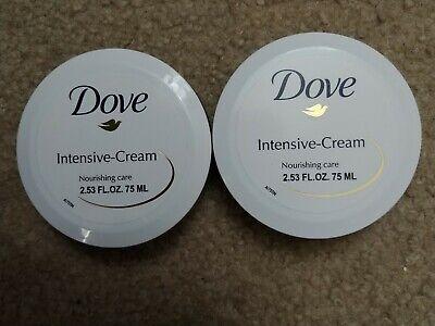 Dove Moisturizing Body Lotion ((2) DOVE Intensive Dry Skin Cream Lotion Nourishing Body Moisturizing)