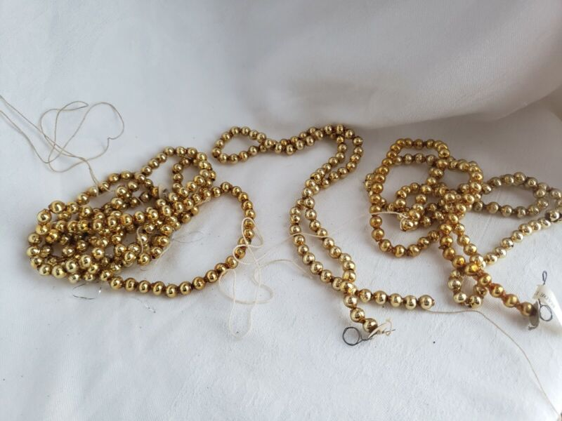 ANTIQUE CHRISTMAS TREE GARLAND RETRO COLLECTIBLE RARE EARLY GOLD TONE