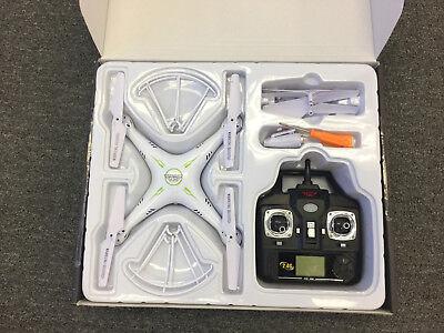 Male lead RC XQ6 SYMA OEM 4Ch 6-Axis RC Quadcopter Drone RTF 2.4G White CAMERA USED
