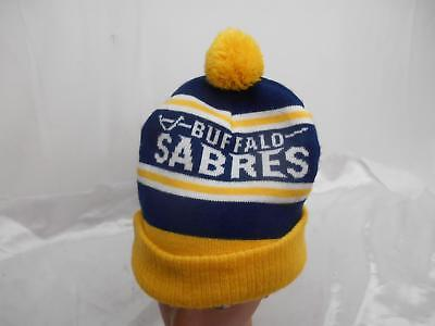 Old Vtg BUFFALO SABRES NHL HOCKEY KNIT SKULL CAP Labatt Advertising Hat Apparel for sale  Solon