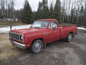 1985 Dodge Power Ram 1500 D100 Custom Pickup Truck