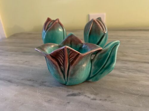 VINTAGE TULIP SHAPED CREAMER AND SALT AND PEPPER SHAKERS