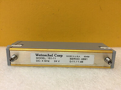 Weinschel 151-11 Dc To 4 Ghz 0 To 11 Db 3.5mm F Programmable Attenuator New