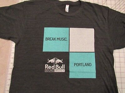 RED BULL Sound Select Portland T-SHIRT Mens L Break Music Fest Concert Tour PDX