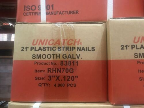 "3"" x .120 SMOOTH GALV, 21` Framing Nails 4000/Case Hitachi,DeWalt,Senco"