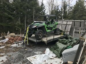 2014 Artic Cat trail 700 Xt $12100 or take for pontoon boat