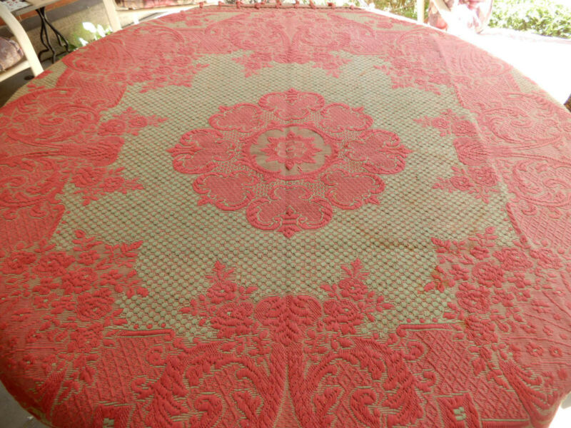 ANTIQUE TABLE COVER COVERLET DESIGN 44 BY 47 INCHES