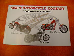 SWIFT MOTORCYCLE COMPANY OWNER'S MANUAL NEW ( RARE )