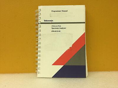 Tektronix 070-8132-01 2711 2712 Spectrum Analyzer Programmer Manual