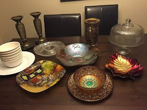 Accent plates and dishes