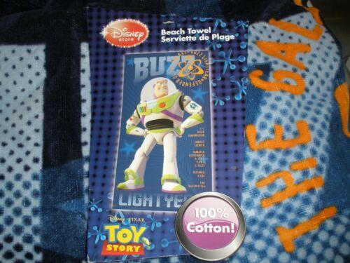 """NEW Disney Store Beach Towel Buzz Lightyear Toy Story 34"""" x 64"""""""