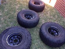 Goodyear Wrangler 35x12.5 r15 tyres & wheels Bateau Bay Wyong Area Preview