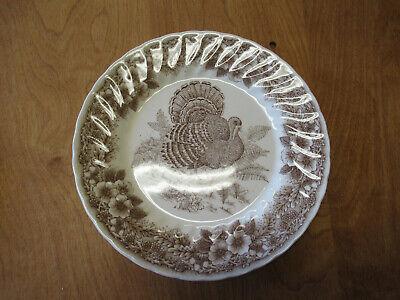 Churchill England THANKSGIVING BROWN Dinner Plate 10