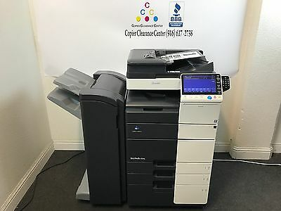 Konica Minolta Bizhub 454e Black White Copier Printer Scanner Fax Finisher