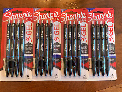 Sharpie S-gel Pens Medium 0.7mm Blue Ink Gel Pen 16 Count 4 Pks Of 4ct