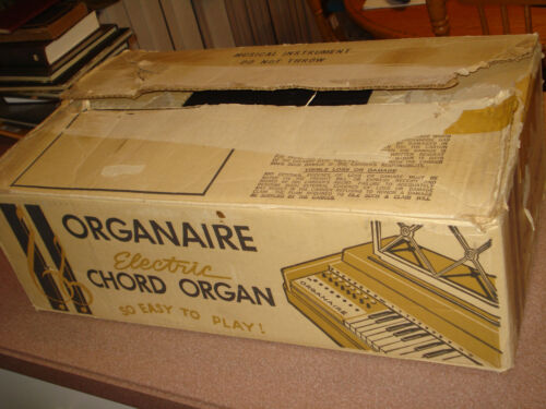 VINTAGE Organaire Electric Play Organ Keyboard Model 3 W/BOX EXTRAS WORKIS GREAT