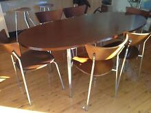 Oval shape dining table and six chairs Lane Cove North Lane Cove Area Preview