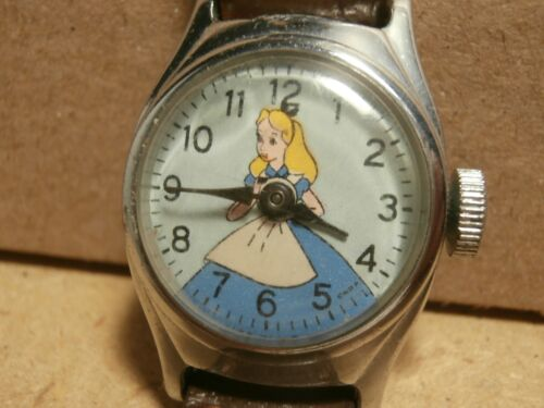 Vintage US Time Wind Up Wrist Watch Disney Cinderella - Runs