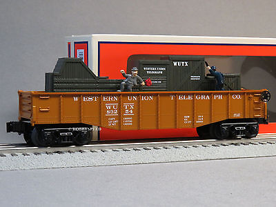 LIONEL WESTERN UNION ANIMATED CHASE GONDOLA o gauge train cop robber 6-83254 NEW