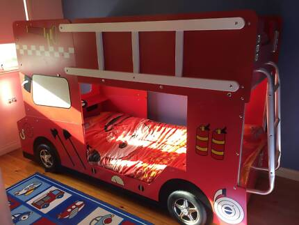 Fire engine bed - bunks