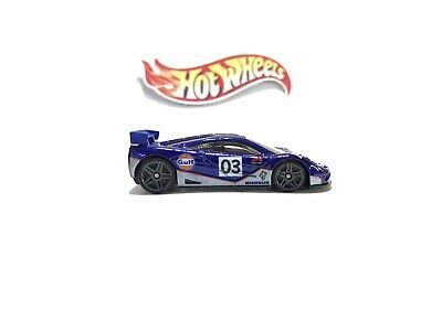 Hot Wheels Gulf Mclaren GTR F1 Plastic Base Swap Super Custom Loose Car