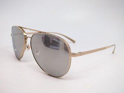 Authentic Versace VE 2217 1252/6G Pale Gold VE2217 Sunglasses
