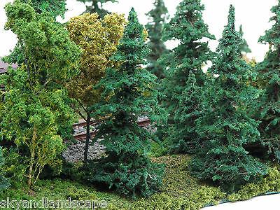 "20 Pines Fir Spruce - All 4"" for HO O Model RR & 28mm 35mm Tabletop Wargames"