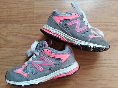 Toddler Girls Size 7 NEW BALANCE Pink & Gray Shoes Sneakers