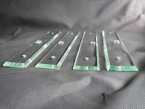 lot 4 anciennes plaques de propret en verre pour porte. Black Bedroom Furniture Sets. Home Design Ideas