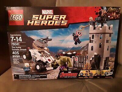 LEGO 76041 HYDRA FORTRESS SMASH marvel HULK QUICKSILVER Minifig Baron Strucker