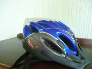 Blue Silver Cyclops Bicycle Helmet in good clean used condition