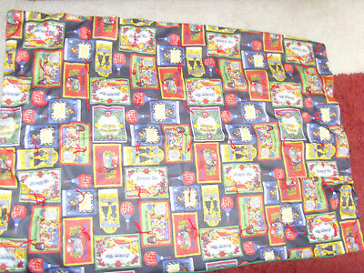 VIntage funky knit lap quilt throw blanket old wine bottle labels retro chic - Retro-chic Quilt
