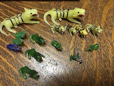 Vintage Hand Blown Glass Animals, Miniature, lot of 15