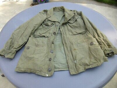 Vintage Military US Army Jacket Size 36S Well Used Needs Cleaning No Liner