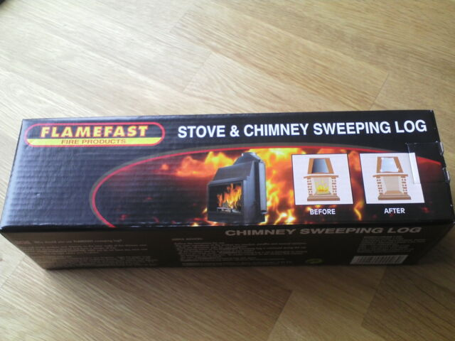 FLAMEFAST STOVE & CHIMNEY SWEEPING LOG , free postage .