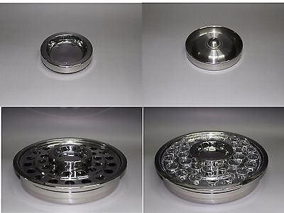 Stainless Steel Communion Tray With 40 Grass Cups And Bread Tray Insert