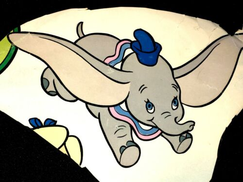 Vintage DISNEY WALLPAPER Baby Kids Room NURSERY DECORATION DUMBO Craft Decoupage