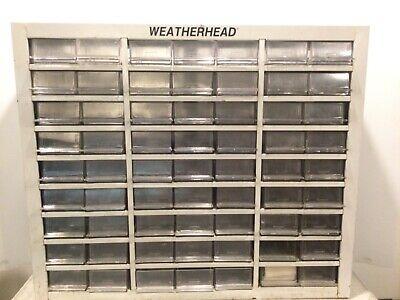 Weatherhead White Metal Storage Cabinet 63 Drawer Organizer