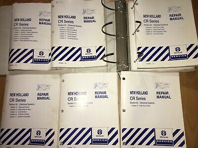 New Holland Cr Combines Electrical System Repair Manual Set Cr920 - Cr980 Oem