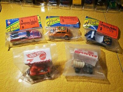 Original Hot Wheels Packaged Redlines and Zowees Lot of 5 Wow