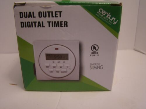 Century Products Dual Outlet Digital Timer