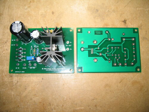 Regulated Variable Power Supply Printed Circuit Board, High Voltage, Tube Amp