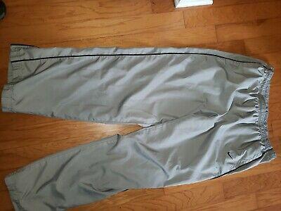 Nike Gray Track Pants Men  2XL Nylon Athletic Wind