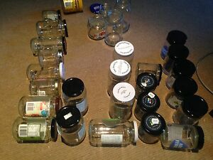 Range of clean, dry and sterile glass jars with and without lids Burwood Heights Burwood Area Preview