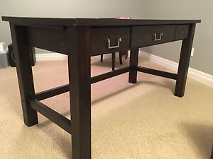 PIER ONE SOLID WOOD DESK.